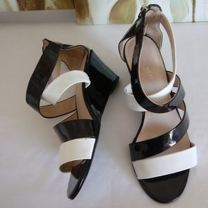 NEW Nina West Patent Wedge Sandals